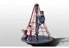 merry go round with net climber