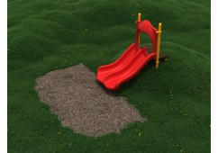 3 Foot Double Straight Playground Slide