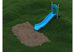 4 Foot Single Playground Equipment Slide