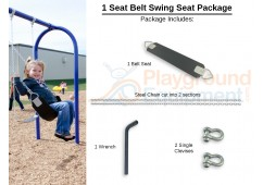 1 Seat Elite Belt Package with Seat, Chain, Clevis Connectors, Tool