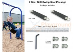 2 Seat Elite Belt Package with Seats, Chain, Clevis Connectors, Tool