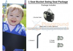 1 Seat Elite High Back Bucket Package with Seat, Chain, Clevis Connectors, Tool
