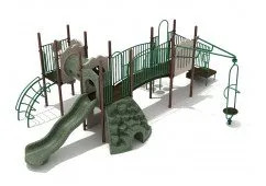 Grand Rapids Play System With Rock Climber