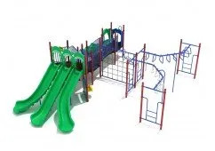 Manhattan Triple Slides and Monkey Bars For 5 Year Olds