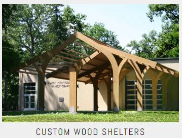 Commercial Custom Wood Shelters