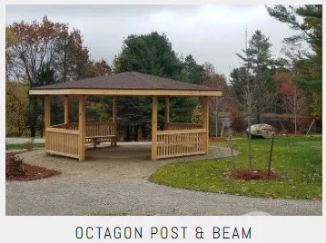 Commercial Octagon Post And Beam Shelters
