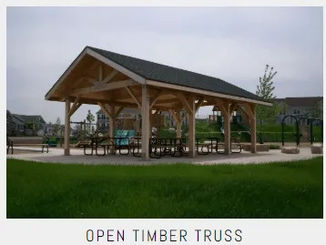 Commercial Open Timber Truss Shelters