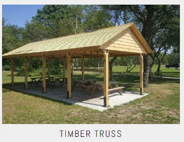Commercial Timber Truss Shelters