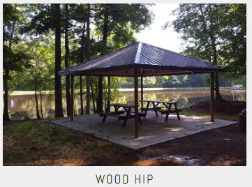 Commercial Wood Hip Shelters