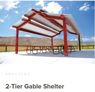 Commercial 2 tier Gable shelter