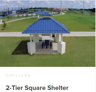 Commercial 2-Tier Square Shelter